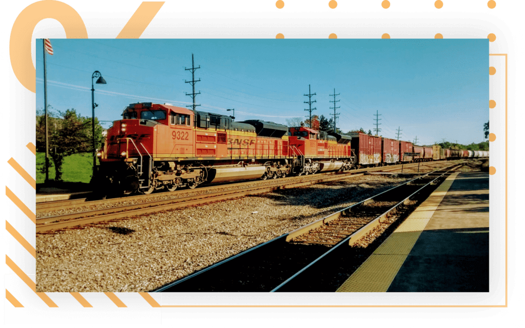 FREIGHT BY TRAIN